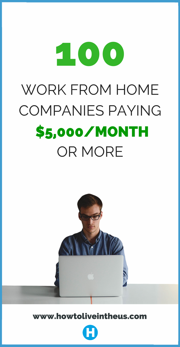 100+ Websites That Will Pay you $5,000/Month To Work From Home ...