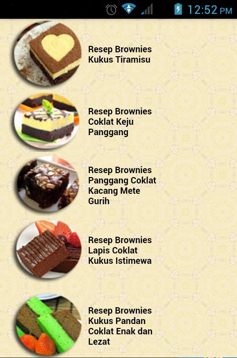 Download Aplikasi Resep Membuat Brownies Enak Untuk Android Resep Brownies Brownies Resep