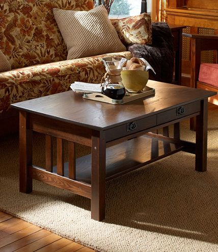 Mission Coffee Table Coffee Tables At L L Bean To Go