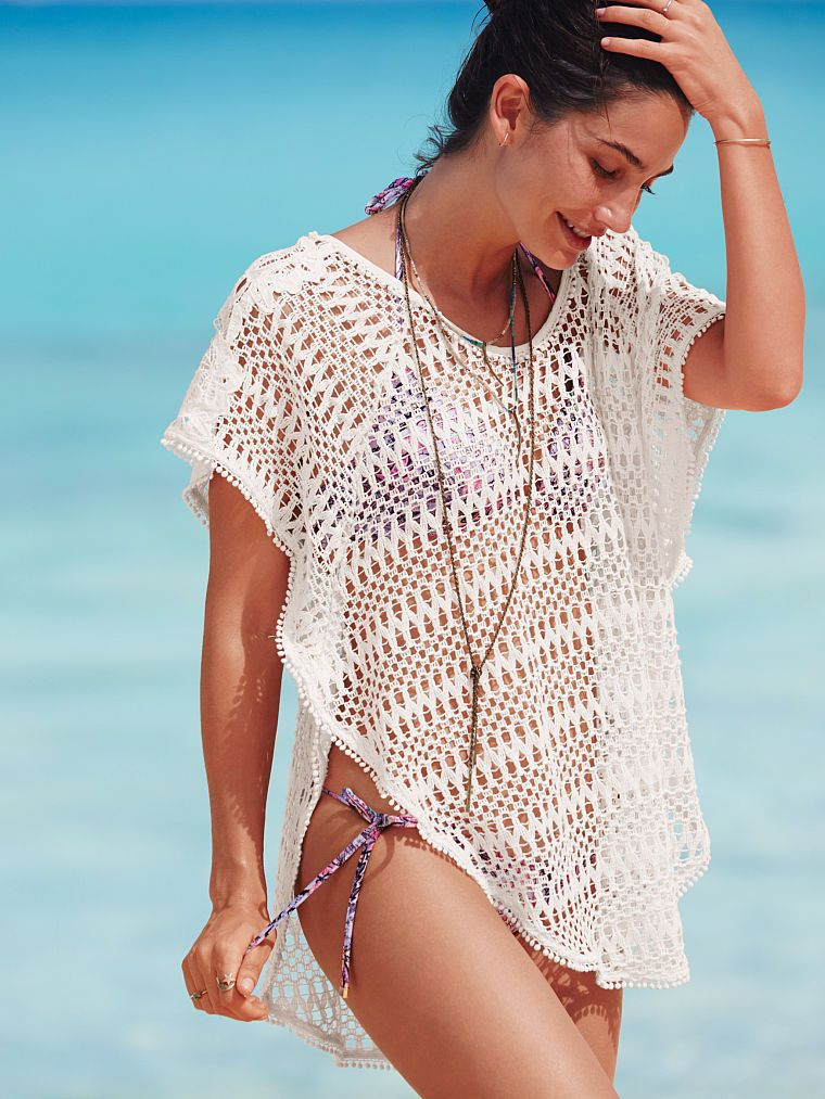 d0d5e59882 The Flounce Cover-up $98- Victoria's Secret | Swimfan | Crochet ...