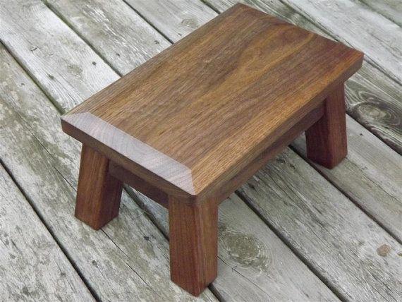 Excellent Walnut Classic Modern Wood Riser Step Stool Riser Machost Co Dining Chair Design Ideas Machostcouk