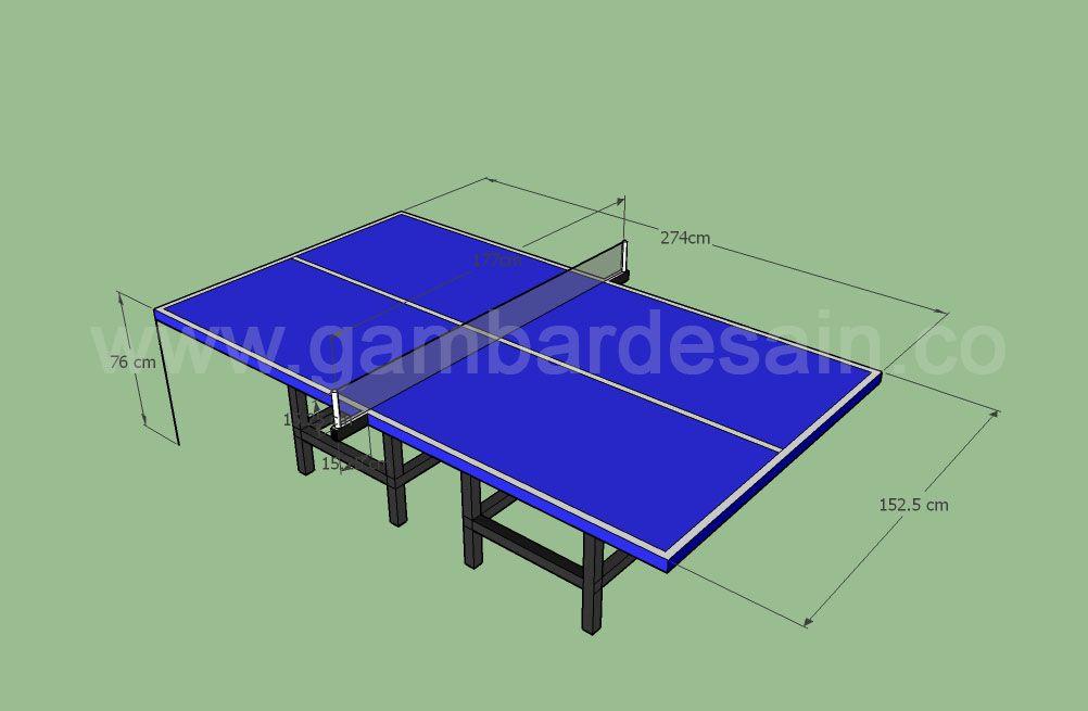 Ukuran Lapangan Tenis Meja Beserta Gambar Tenis Meja