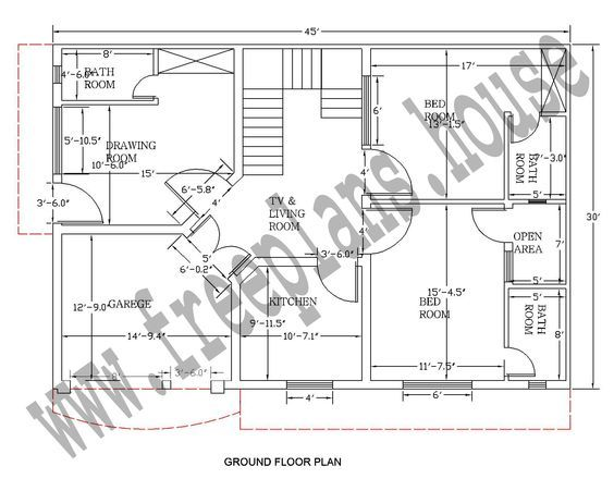 3045 Feet 125 Square Meter House Plan House Plans In 2019