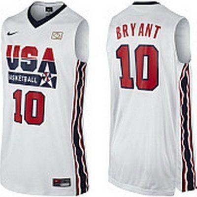2012 Usa #10 Kobe Bryant 2012 Usa Basketball Retro Jersey