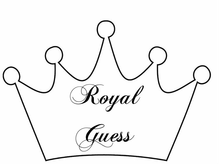 princess party crown sign  u0026quot royal guess u0026quot  for treat jar