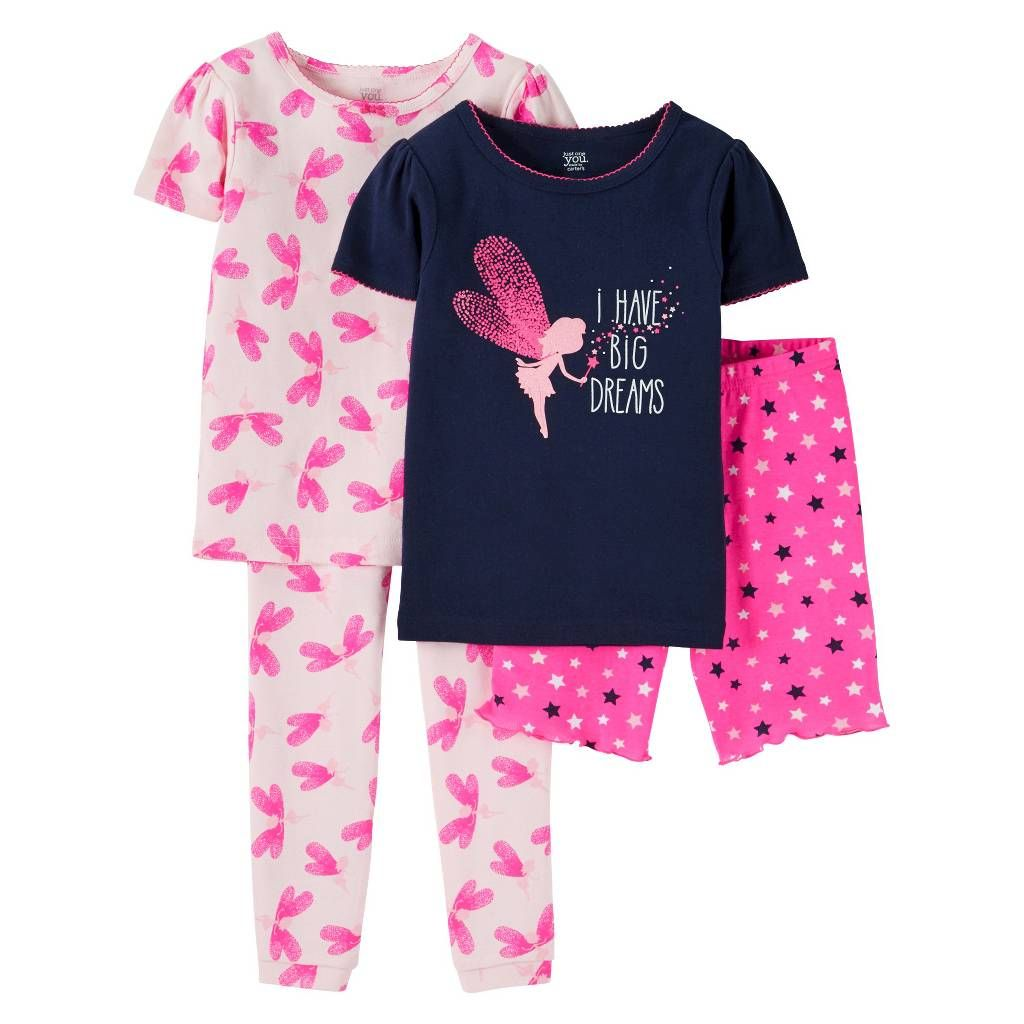 104f2616d5b0 Girls  Snug Fit Cotton 4-Piece Pajama Set - Just One You™ Made by ...