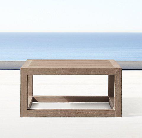 Aviara Collection   Weathered Teak | RH. Outdoor RoomsOutdoor FurnitureSide  ...