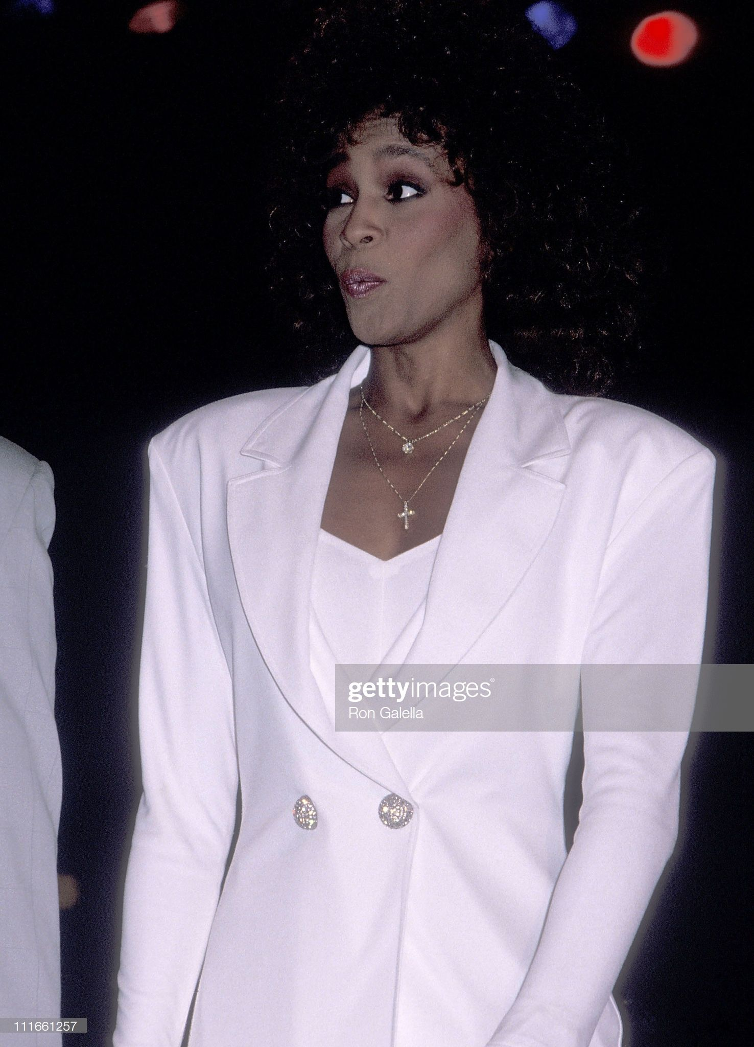 Singer Whitney Houston Attends Dionne Warwick And The Warwick