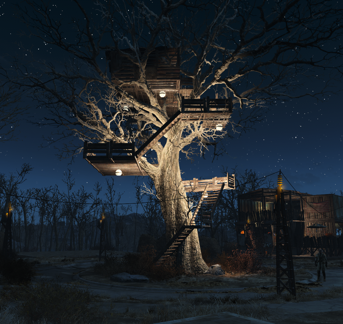 Treehouse fallout 4 death is a preferable alternative for Best house designs fallout 4