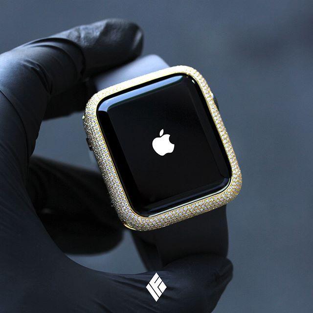 info for c249d 32751 Custom Diamond Bezel/Case Service Work Performed On Apple Watch ...