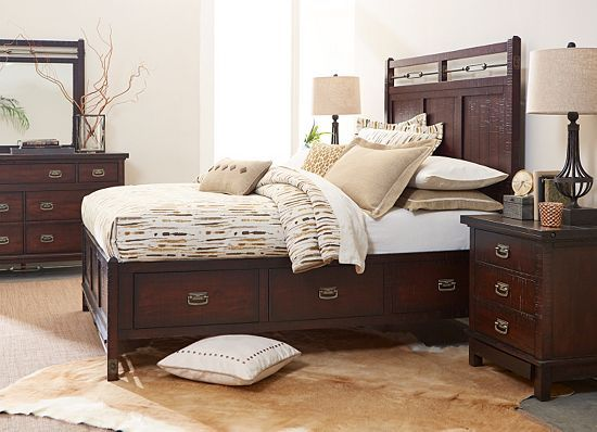 Bedrooms Arden Ridge Queen Storage Bed Bedrooms Furniture Storage Bed Bed