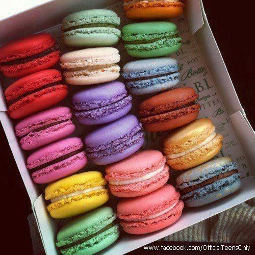 Colored Krabby Patties Macaroons Desserts Food