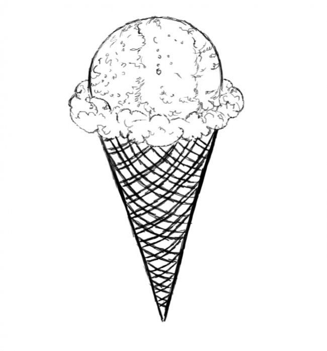 Drawing Tutorial How To Draw An Ice Cream Cone How To Draw