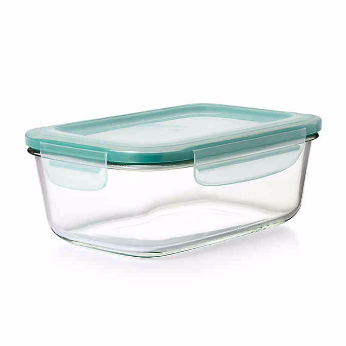 Oxo Good Grips Smart Seal Rectangle Glass Snap Container Glass Storage Containers Glass Food Storage Glass Food Storage Containers