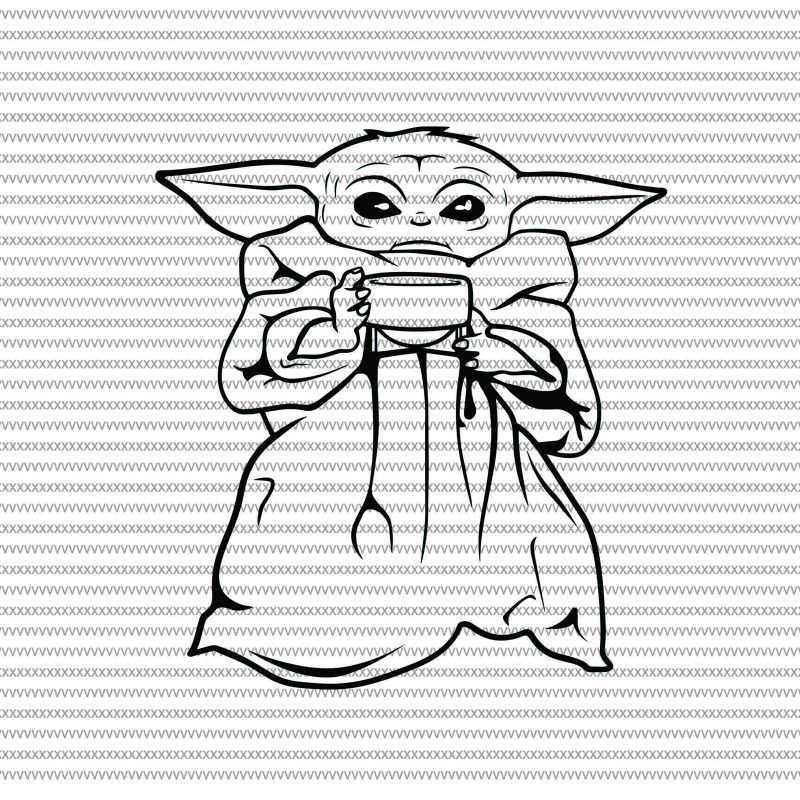 Baby Yoda Svg The Mandalorian The Child Baby Yoda Png Star Wars Svg Png The Child Png Buy T Shirt Design For Commercial Use Star Wars Drawings Yoda Drawing Yoda Png