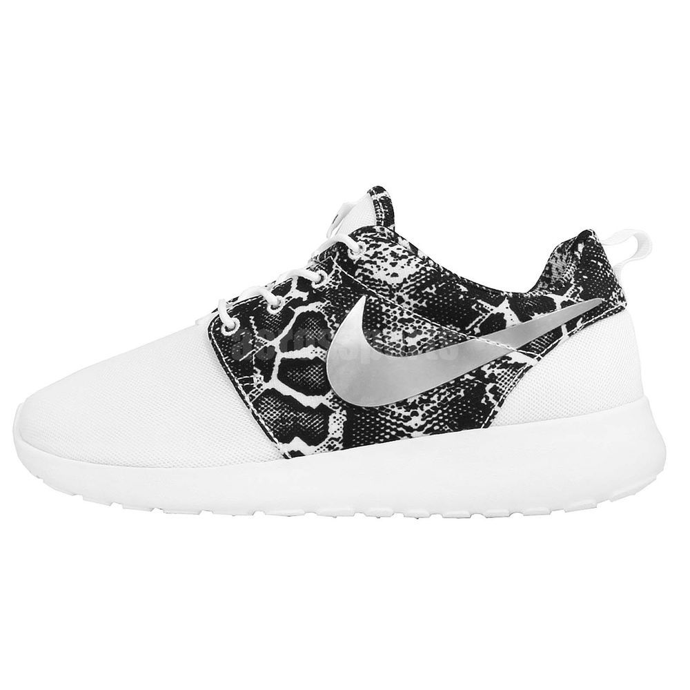 nike roshe womens white snakeskin shoes