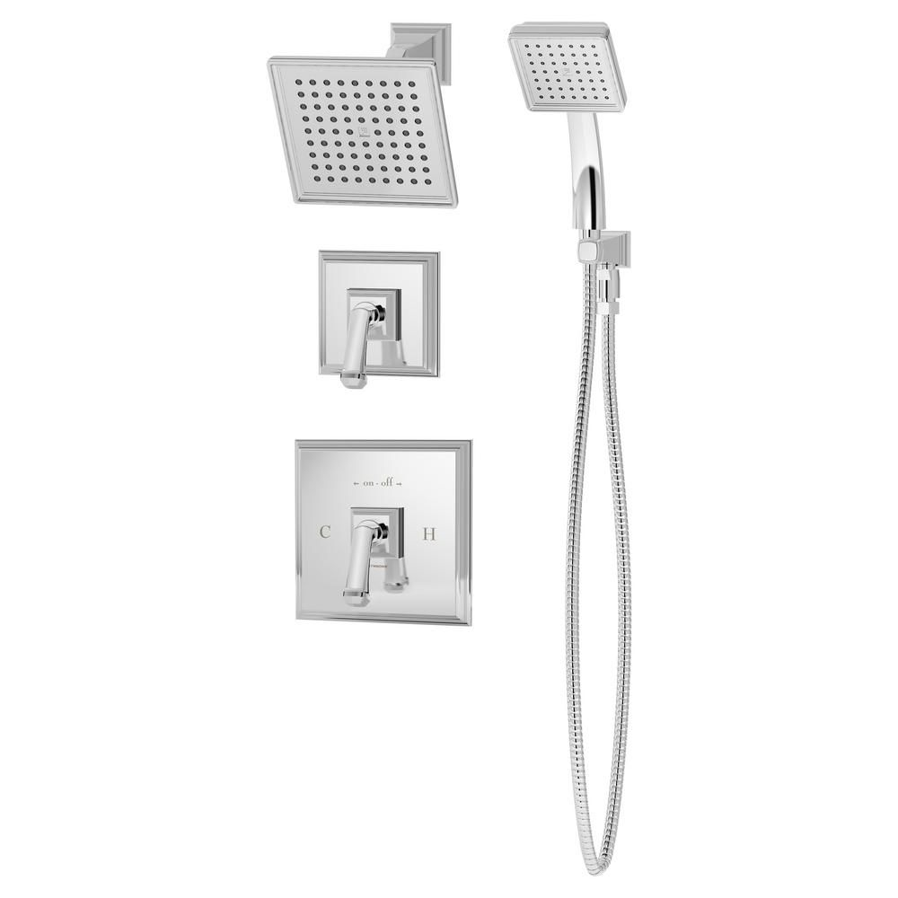 Symmons Oxford 1 Handle Wall Mounted Shower Trim Kit In Polished