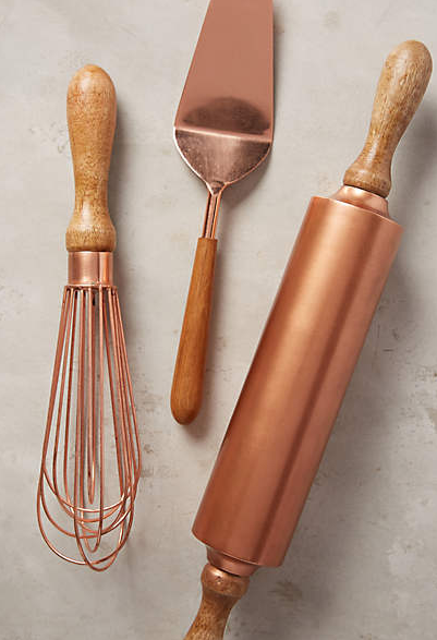 Add Style To Your Kitchen With Copper Utensils #copper