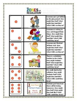 ZONEs of Regulation: Roll a situation | Zones of Regulation