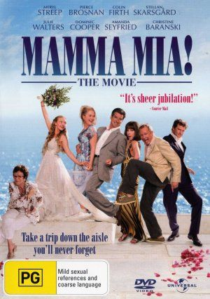Mamma Mia Movie Cover Favorite Movies Pinterest