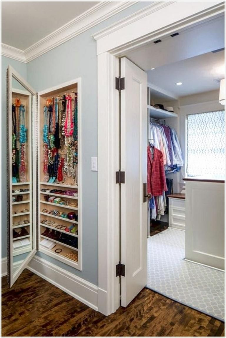 40 Effective And Clever Bedroom Storage Ideas Page 12 Of 40 Small Bathroom Decor Mirror Jewelry Storage Hidden Storage
