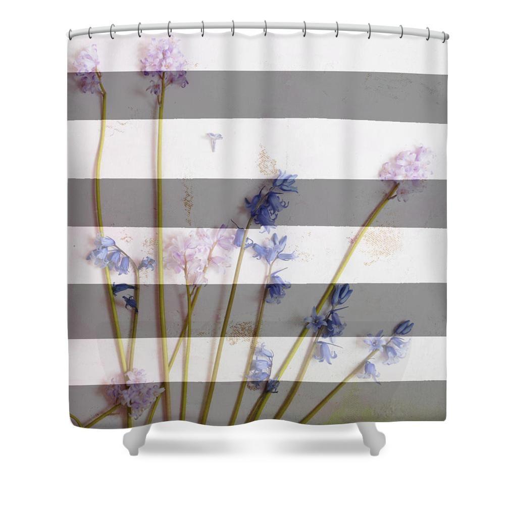 Salle De Bain Shower Curtain ~ stripes and flowers home decor bedding shower curtain by artyzen
