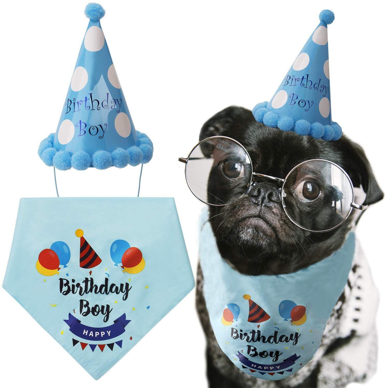 Luter Dog Birthday Bandana Triangle Scarfs Cute Doggie Birthday Party Hat Happy Birthday Boy Print Dog Birthday Dog Birthday Hat Dog Birthday Party