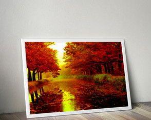 Poster Outono com moldura