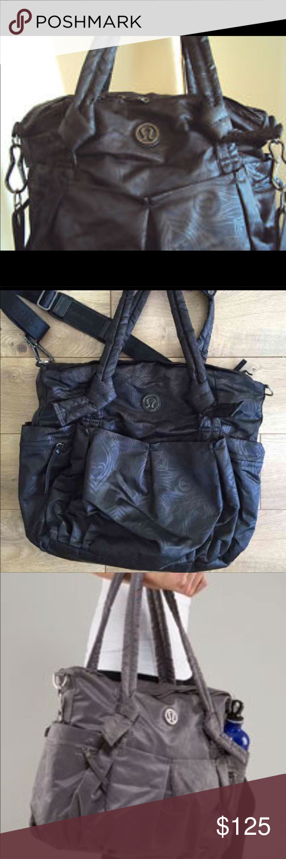 d77518d1decf35 ... Lululemon Triumph Tote in (RARE) Black PEACOCK Carried once or twice.... EUC!! No longer available Very hard to find! lululemon athletica Bags Totes