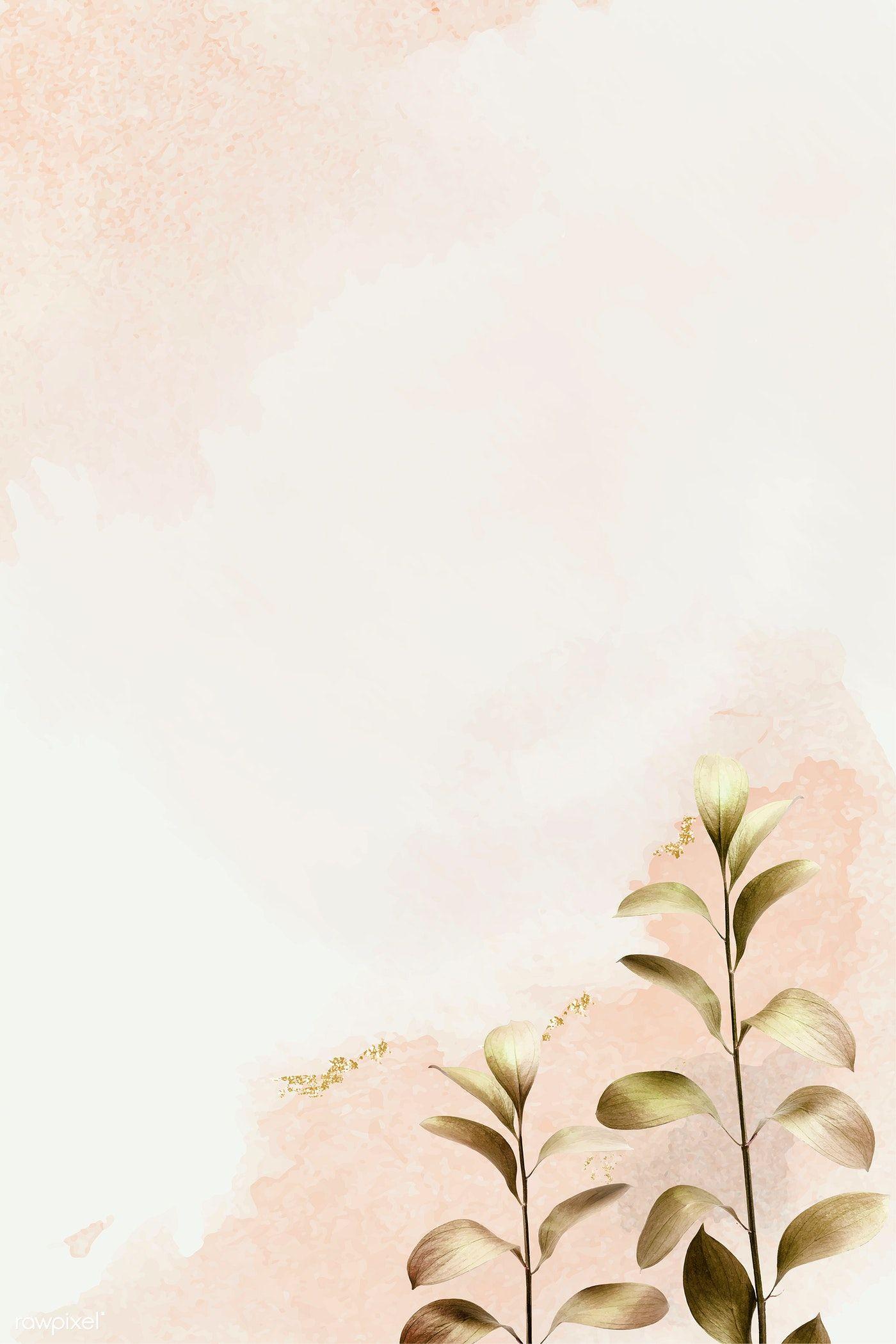 Download premium vector of Eucalyptus pattern background template vector