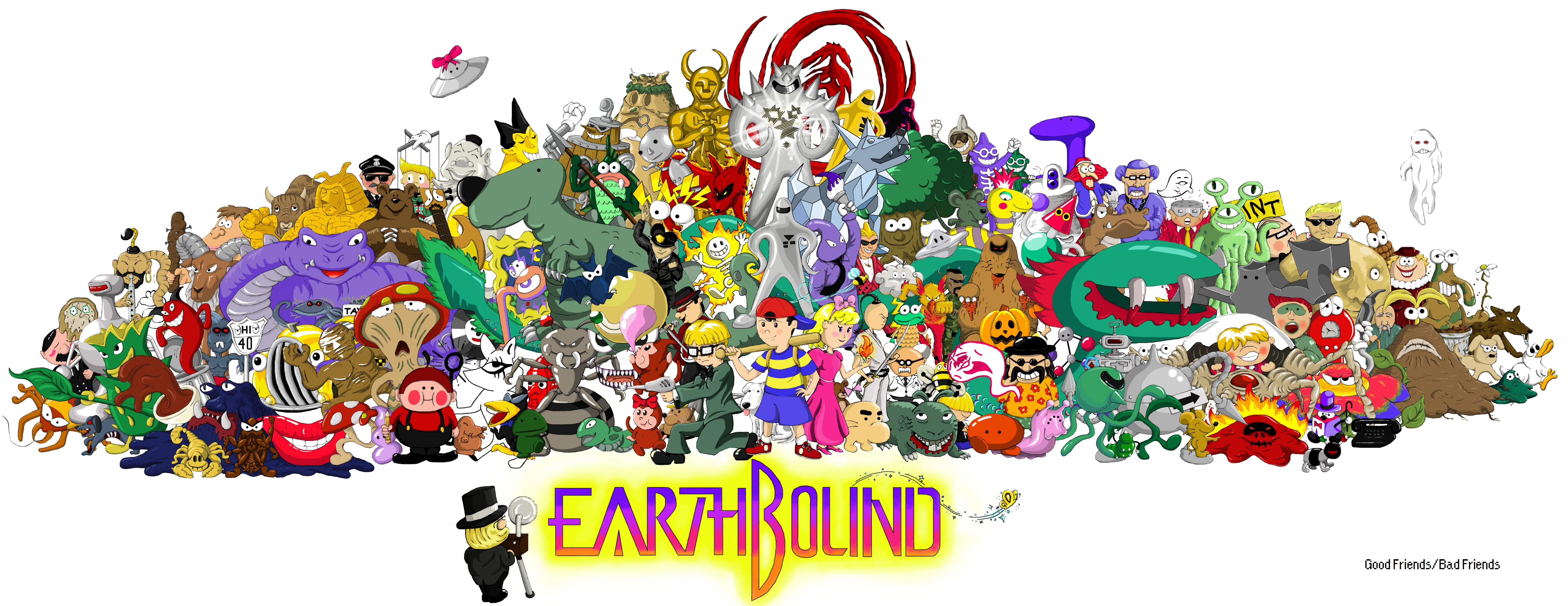 EarthBound. Played this game for the Super Nintendo