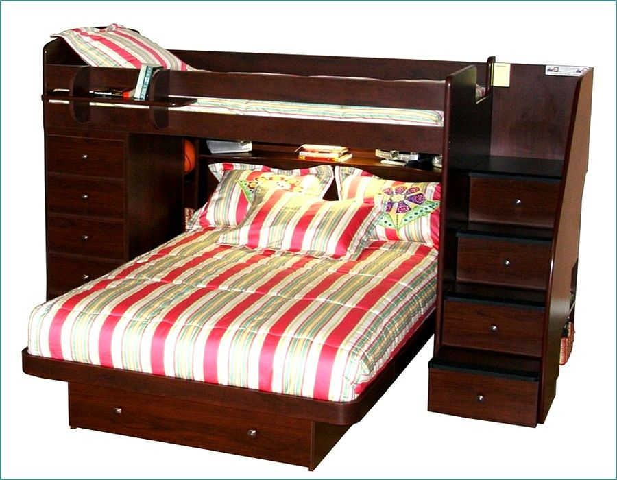 Fantastic Ideas Twin Over Queen Bunk Beds With Staircase And Storage  QK45