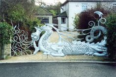 artistic metal gates of dragons - Google Search