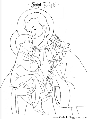 Saint Joseph Coloring Page Chek Month For Sheet And Reipe Saint Coloring Catholic Coloring St Josephs Day