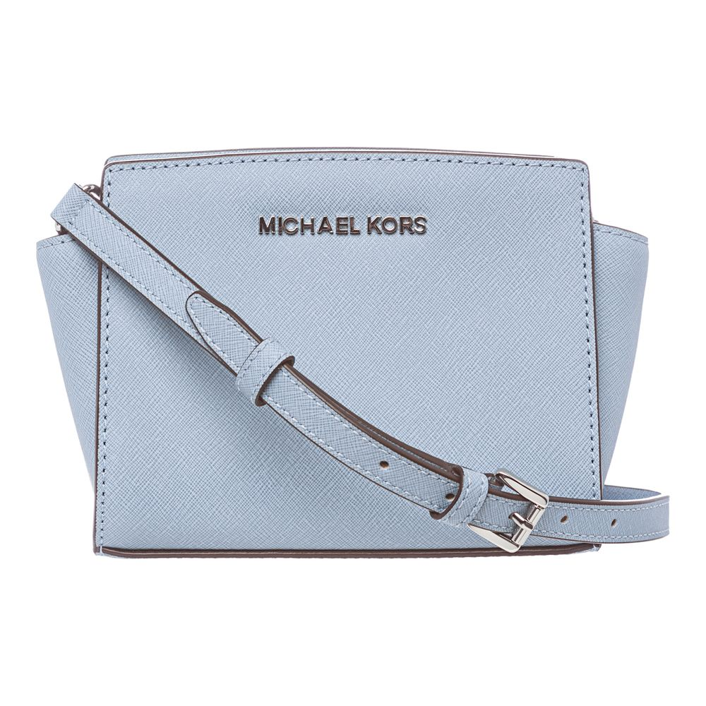 722d27f5e93 MICHAEL Michael Kors 'Selma' Mini Powder Blue Saffiano Leather ...
