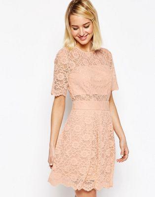 ASOS Lace Mini Prom Dress