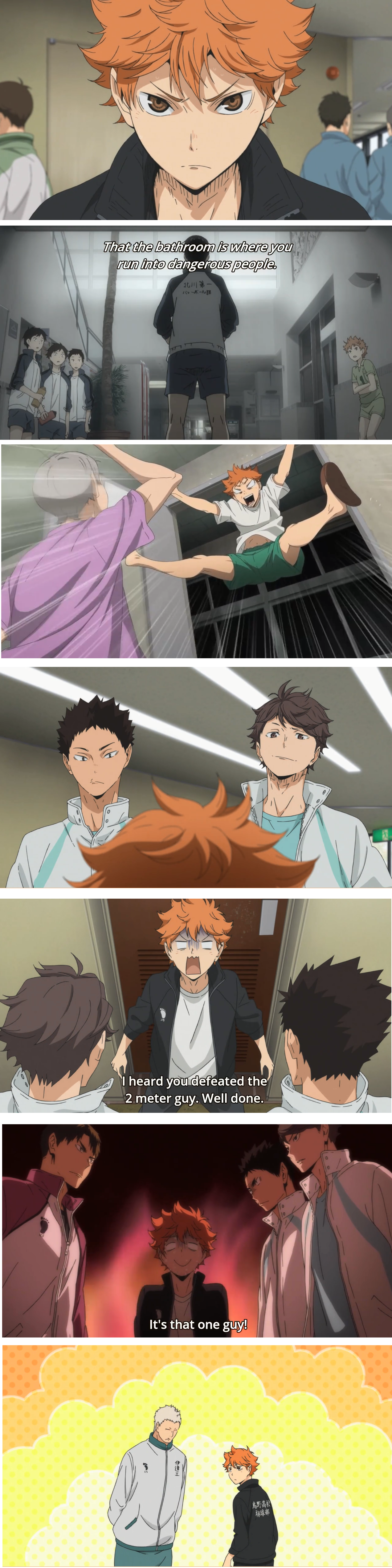 Hinata Shouyou's Bathroom Adventures... xD this needs to be a mini series,the people Hinata encounters on his trips to the bathroom XD