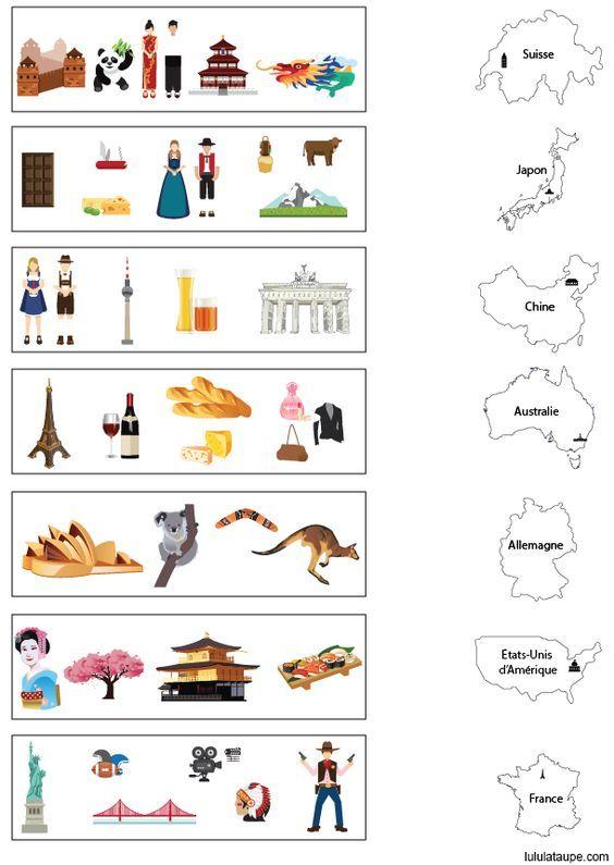 Exercice gratuit, apprendre les pays | Mapy świata, Edukacja, Geografia