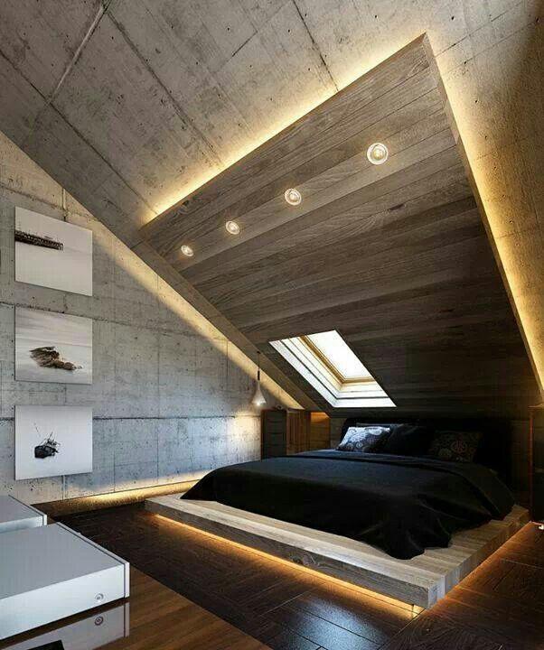 moderne schlafzimmer einrichtung und lichtgestaltung mit ... - Moderne Betten Ideen