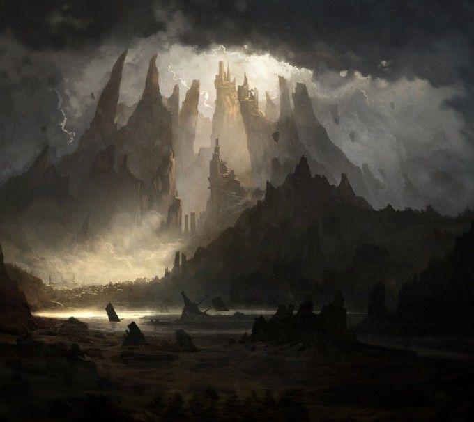 Geoffrey Ernault Fantasy Landscape Environment Concept Art Fantasy Concept Art
