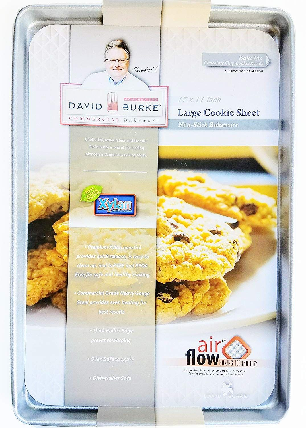 David Burke Kitchen Commercial Weight 17 X 11 Large Cookie Sheet Bakeware Find Out More About The G Nonstick Baking Pans Baking Cookie Sheets Cookie Sheet