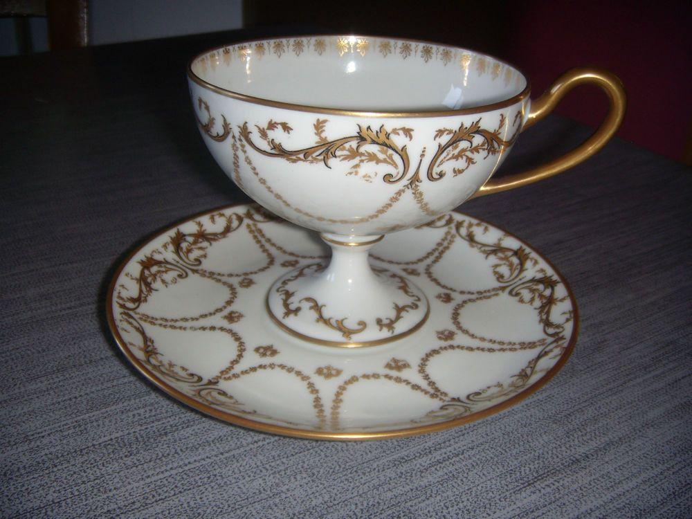 ancienne tasse et soucoupe fine porcelaine de limoges voir description porcelaine de. Black Bedroom Furniture Sets. Home Design Ideas