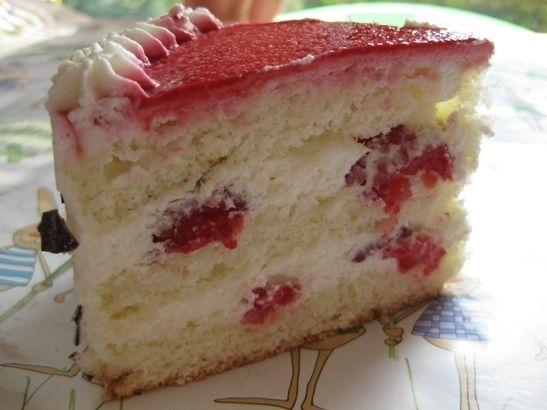 Бисквитный фруктовый торт рецепт пошагово в