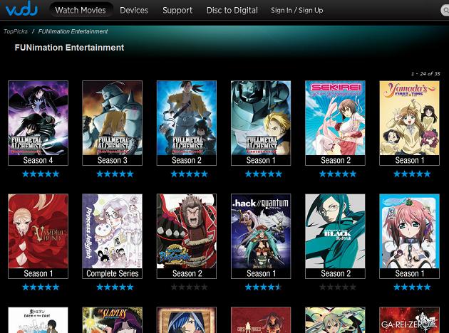 FUNimation on VUDU Anime shows, Anime, Me me me anime