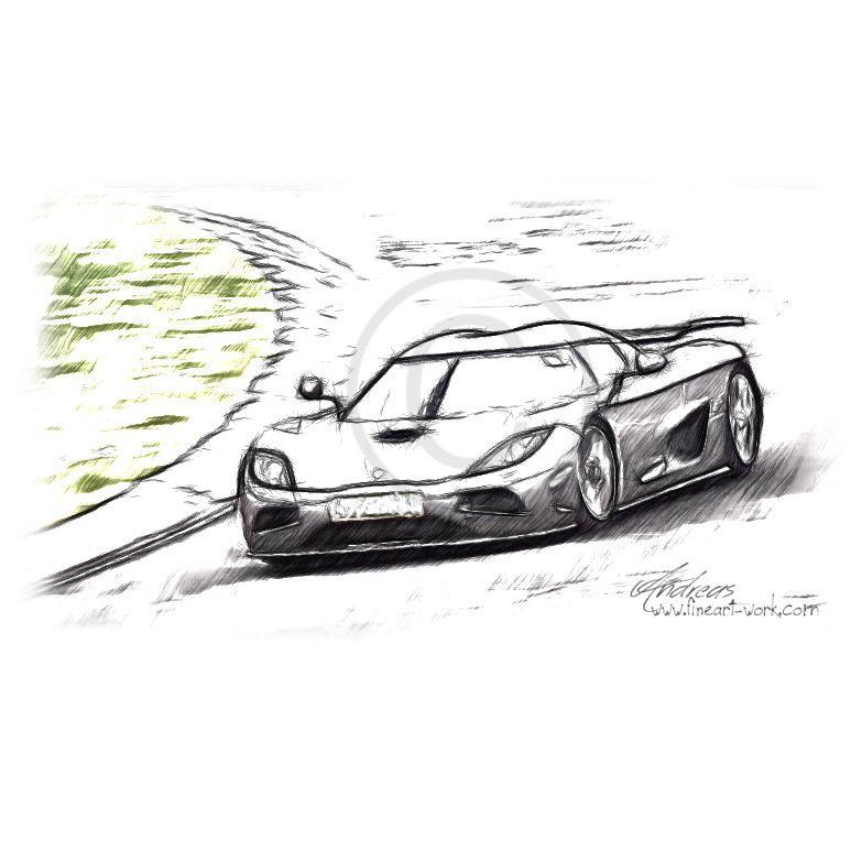 Koenigsegg Agera #cardrawing #Pencildrawing by www.autozeichnungen ...