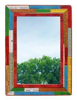 repurposed upcycled yardstick frame mirror, repurposing upcycling