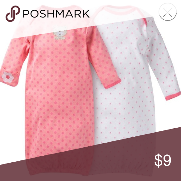 NWT Gerber 2PK size 0-6 months sleeping gown Baby girl sleeping ...