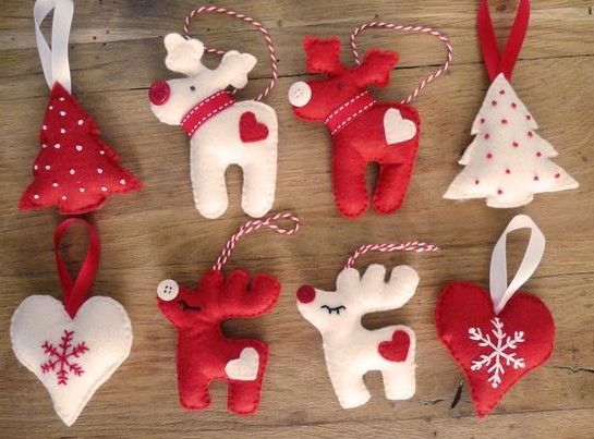 Hervorragend Modèles décorations Noël en feutrine | DECORATION | Pinterest  SK91