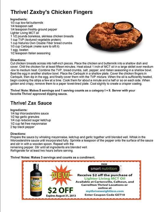 Thrive Zaxby S Imitation Recipe Thrive Recipes Zaxby S Chicken Recipe Recipes