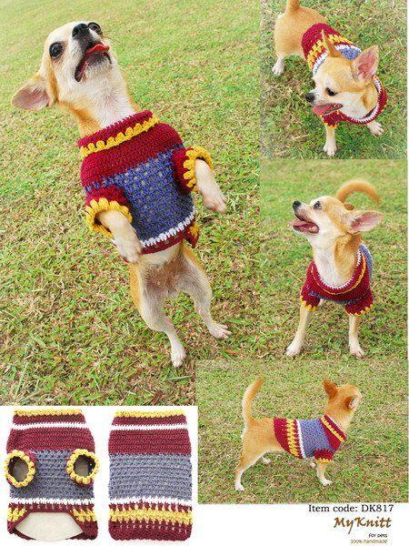 Ropa para perros tejida al crochet | crochet para mascotas ...